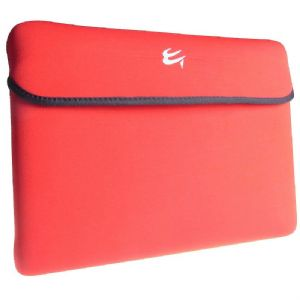 "Red And Black Reversible Slip Case Skin To Fit 15.6"" Laptop"